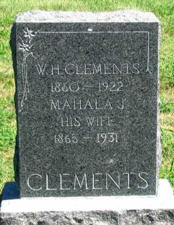 BERNARD CLEMENTS, MAHALA J. - Dundy County, Nebraska | MAHALA J. BERNARD CLEMENTS - Nebraska Gravestone Photos