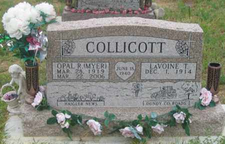 MYER COLLICOTT, OPAL R. - Dundy County, Nebraska | OPAL R. MYER COLLICOTT - Nebraska Gravestone Photos