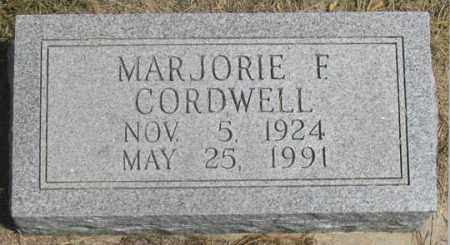 CORDWELL, MARJORIE F. - Dundy County, Nebraska   MARJORIE F. CORDWELL - Nebraska Gravestone Photos