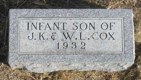 COX, INFANT SON - Dundy County, Nebraska | INFANT SON COX - Nebraska Gravestone Photos