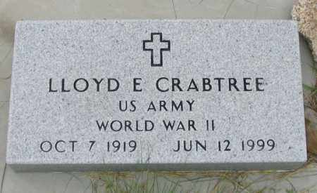 CRABTREE, LLOYD E. - Dundy County, Nebraska   LLOYD E. CRABTREE - Nebraska Gravestone Photos