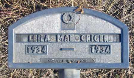 CRIGER, LEILA MAE - Dundy County, Nebraska | LEILA MAE CRIGER - Nebraska Gravestone Photos