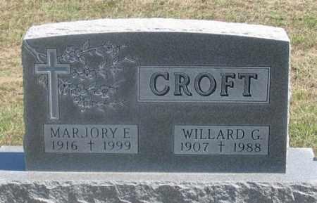CROFT, MARJORY E. - Dundy County, Nebraska   MARJORY E. CROFT - Nebraska Gravestone Photos