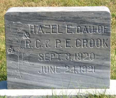 CROOK, HAZEL E. - Dundy County, Nebraska | HAZEL E. CROOK - Nebraska Gravestone Photos
