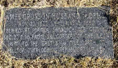 CROSSON, JAMES - Dundy County, Nebraska   JAMES CROSSON - Nebraska Gravestone Photos