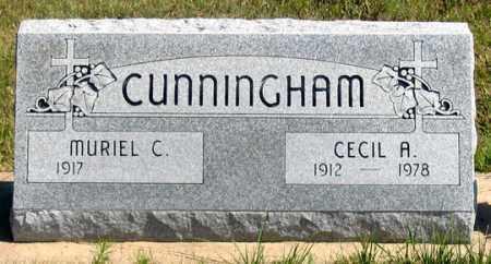 CUNNINGHAM, CECIL A. - Dundy County, Nebraska | CECIL A. CUNNINGHAM - Nebraska Gravestone Photos