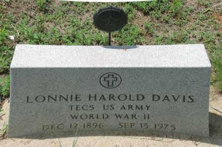 DAVIS, LONNIE HAROLD - Dundy County, Nebraska   LONNIE HAROLD DAVIS - Nebraska Gravestone Photos