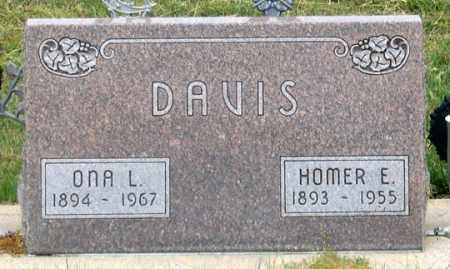 DAVIS, HOMER E. - Dundy County, Nebraska | HOMER E. DAVIS - Nebraska Gravestone Photos