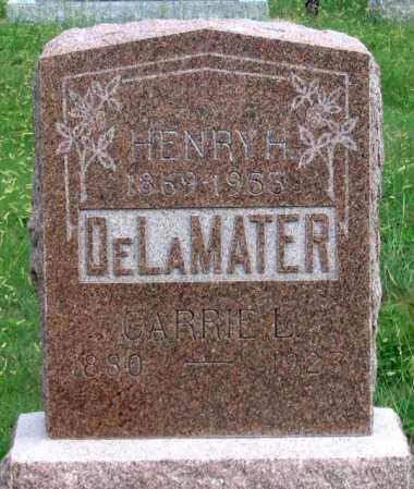 DELAMATER, CARRIE L - Dundy County, Nebraska | CARRIE L DELAMATER - Nebraska Gravestone Photos