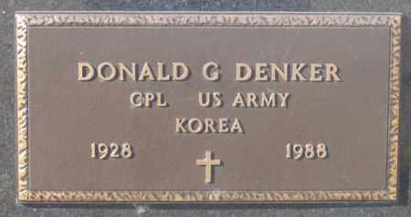 DENKER, DONALD G. - Dundy County, Nebraska | DONALD G. DENKER - Nebraska Gravestone Photos