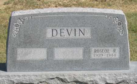 DEVIN (DEVEN?), ROSCOE R. - Dundy County, Nebraska | ROSCOE R. DEVIN (DEVEN?) - Nebraska Gravestone Photos