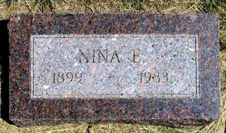 DEWESTER, NINA E. - Dundy County, Nebraska | NINA E. DEWESTER - Nebraska Gravestone Photos