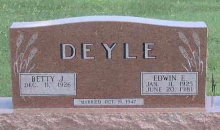DEYLE, BETTY J. - Dundy County, Nebraska | BETTY J. DEYLE - Nebraska Gravestone Photos