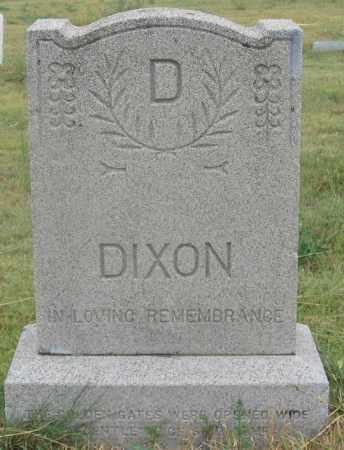 DIXON FAMILY, HEADSTONE - Dundy County, Nebraska | HEADSTONE DIXON FAMILY - Nebraska Gravestone Photos