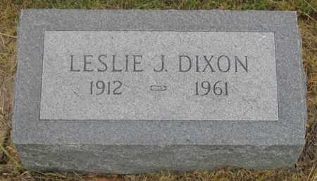 DIXON, LESLIE J. - Dundy County, Nebraska   LESLIE J. DIXON - Nebraska Gravestone Photos