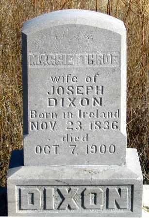 THROE DIXON, MAGGIE - Dundy County, Nebraska | MAGGIE THROE DIXON - Nebraska Gravestone Photos