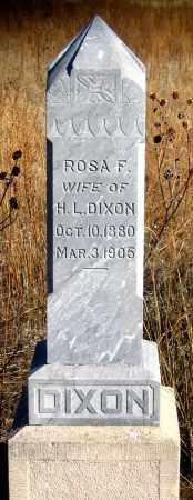 ALSBURY DIXON, ROSA F. - Dundy County, Nebraska   ROSA F. ALSBURY DIXON - Nebraska Gravestone Photos