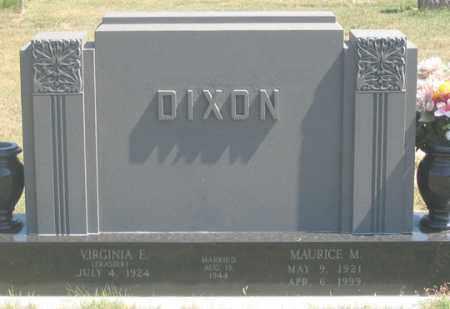 DIXON, MAURICE M. - Dundy County, Nebraska   MAURICE M. DIXON - Nebraska Gravestone Photos