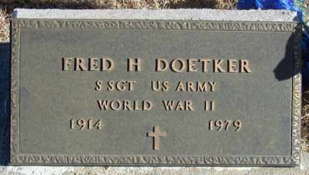 DOETKER, FRED H. - Dundy County, Nebraska | FRED H. DOETKER - Nebraska Gravestone Photos