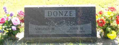 FRANCIS DONZE, VIRGINIA M. - Dundy County, Nebraska | VIRGINIA M. FRANCIS DONZE - Nebraska Gravestone Photos