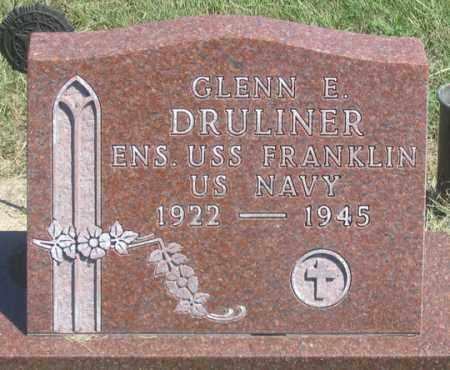DRULINER, GLENN E. - Dundy County, Nebraska | GLENN E. DRULINER - Nebraska Gravestone Photos