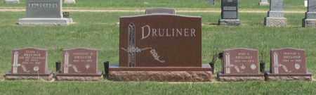 DRULINER, ROSS D. FAMILY GRAVE SITE - Dundy County, Nebraska | ROSS D. FAMILY GRAVE SITE DRULINER - Nebraska Gravestone Photos