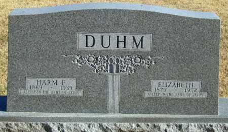 DUHM, ELIZABETH - Dundy County, Nebraska | ELIZABETH DUHM - Nebraska Gravestone Photos
