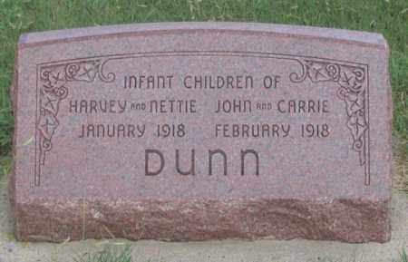 DUNN, INFANTS - Dundy County, Nebraska   INFANTS DUNN - Nebraska Gravestone Photos