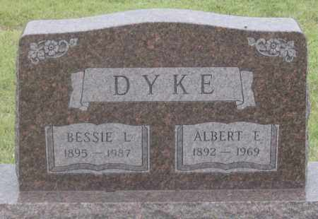 DYKE, ALBERT E. - Dundy County, Nebraska | ALBERT E. DYKE - Nebraska Gravestone Photos
