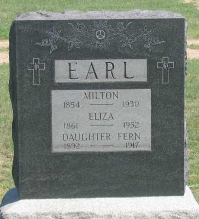 EARL, ELIZA - Dundy County, Nebraska | ELIZA EARL - Nebraska Gravestone Photos