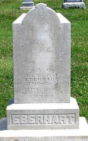 EBERHART, LETTA LUCILE - Dundy County, Nebraska | LETTA LUCILE EBERHART - Nebraska Gravestone Photos