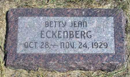 ECKENBERG, BETTY JEAN - Dundy County, Nebraska   BETTY JEAN ECKENBERG - Nebraska Gravestone Photos