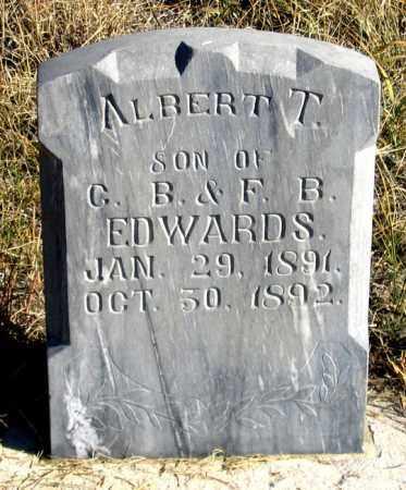 EDWARDS, ALBERT T. - Dundy County, Nebraska   ALBERT T. EDWARDS - Nebraska Gravestone Photos