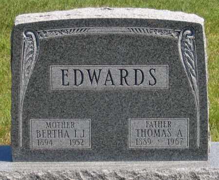 EDWARDS, BERTHA I. J. - Dundy County, Nebraska   BERTHA I. J. EDWARDS - Nebraska Gravestone Photos