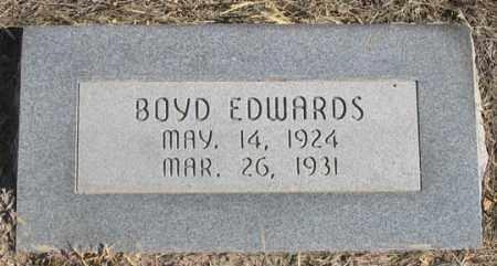 EDWARDS, BOYD - Dundy County, Nebraska | BOYD EDWARDS - Nebraska Gravestone Photos
