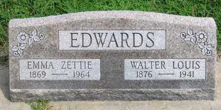 EDWARDS, EMMA ZETTIE - Dundy County, Nebraska | EMMA ZETTIE EDWARDS - Nebraska Gravestone Photos