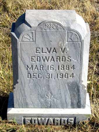EDWARDS EDWARDS, ELVA V. - Dundy County, Nebraska | ELVA V. EDWARDS EDWARDS - Nebraska Gravestone Photos