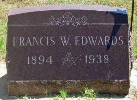 EDWARDS, FRANCIS W. - Dundy County, Nebraska | FRANCIS W. EDWARDS - Nebraska Gravestone Photos