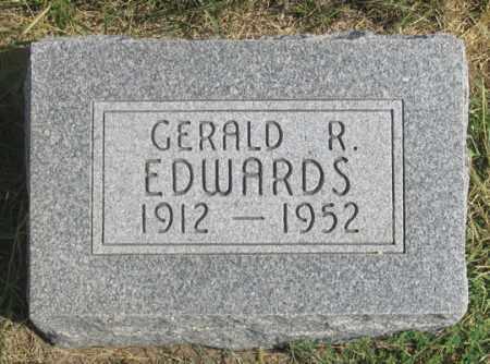 EDWARDS, GERALD R. - Dundy County, Nebraska | GERALD R. EDWARDS - Nebraska Gravestone Photos