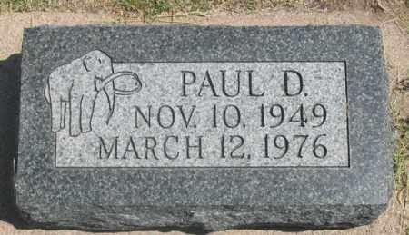 EDWARDS, PAUL D. - Dundy County, Nebraska | PAUL D. EDWARDS - Nebraska Gravestone Photos