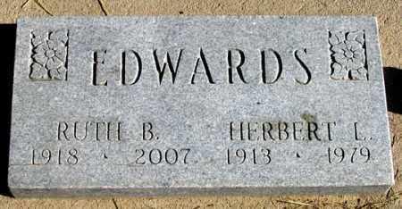 EDWARDS, HERBERT L. - Dundy County, Nebraska | HERBERT L. EDWARDS - Nebraska Gravestone Photos