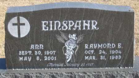 BUNGER EINSPAHR, ANN - Dundy County, Nebraska   ANN BUNGER EINSPAHR - Nebraska Gravestone Photos