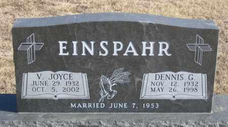 EINSPAHR, V. JOYCE - Dundy County, Nebraska | V. JOYCE EINSPAHR - Nebraska Gravestone Photos