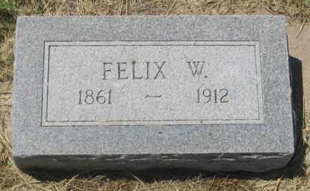 ELLIOTT, FELIX WILBUR - Dundy County, Nebraska | FELIX WILBUR ELLIOTT - Nebraska Gravestone Photos