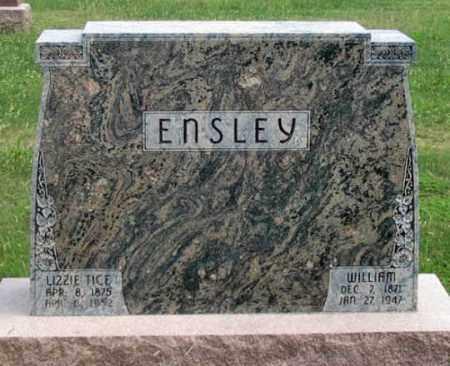 TICE ENSLEY, LIZZIE - Dundy County, Nebraska | LIZZIE TICE ENSLEY - Nebraska Gravestone Photos