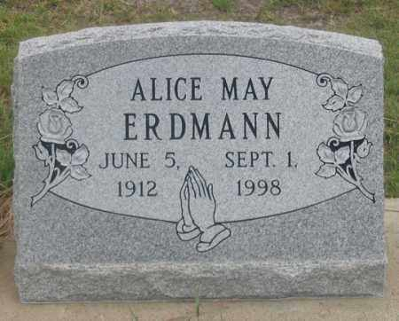 BONAR ERDMAN, ALICE MAY - Dundy County, Nebraska | ALICE MAY BONAR ERDMAN - Nebraska Gravestone Photos