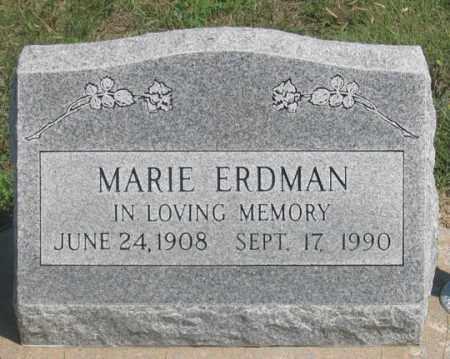 STEVENS ERDMAN, MARIE - Dundy County, Nebraska | MARIE STEVENS ERDMAN - Nebraska Gravestone Photos