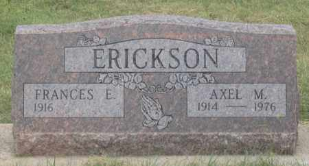 ERICKSON, FRANCES E. - Dundy County, Nebraska   FRANCES E. ERICKSON - Nebraska Gravestone Photos