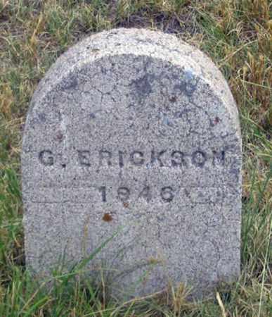 ERICKSON, GUS ? - Dundy County, Nebraska | GUS ? ERICKSON - Nebraska Gravestone Photos