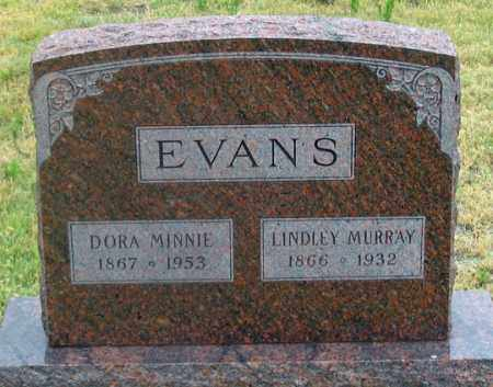 EVANS, DORA MINNIE - Dundy County, Nebraska | DORA MINNIE EVANS - Nebraska Gravestone Photos